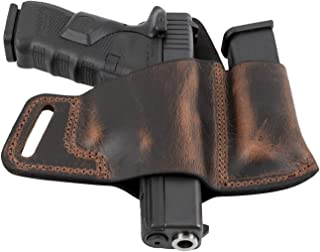 Relentless Tactical Comfort Carry Leather Holster & Mag Pouch Combo | Made in USA | Fits Glock 17 19 22 23 32 33 | Springfield XD & XDS | S&W M&P Shield | Fits Most 1911 Style Handguns