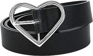 Heart Shaped Buckle Belt For Women Leather Designer Black Belts