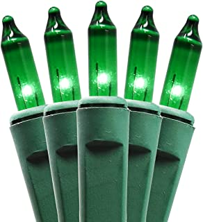 Holiday Essence 100 Green String Lights with Green Wire - Indoor & Outdoor Use - Professional Grade - Great for St Patricks Day, Christmas Tree Decoration, Garden Party, Patio Lawn Decor, UL Listed