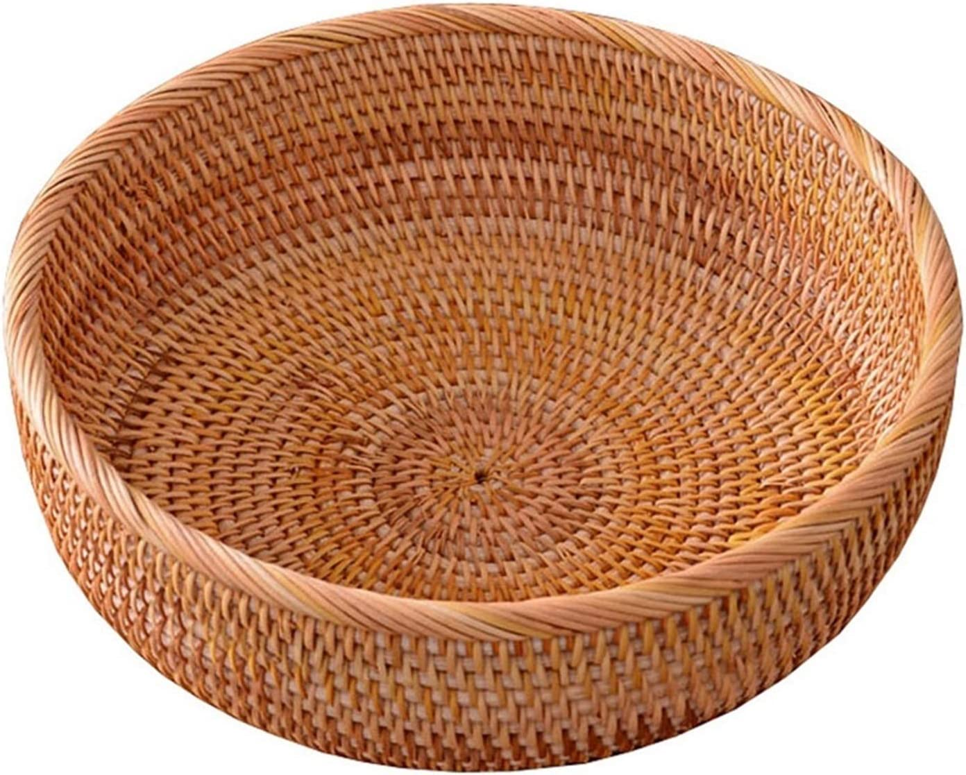 Sales pot Round Handmade Rattan Bread Basket to Store Fo List price Used Kitchen