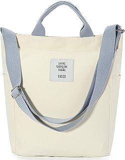 Handtasche Damen Cord Tasche Canvas Shopper Umhängetasche Schulrucksack für Travel Office School Shopping Alltag Uni Arbei...