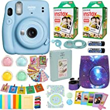 Fujifilm Instax Mini 11 Camera Sky Blue 16654762 + Fuji Instant Instax Film (40 Sheets) Includes Galaxy Carrying Case + As...