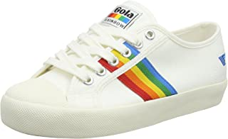 Gola Coaster Rainbow Sneaker - Off White Multi. Size 7 US Women's