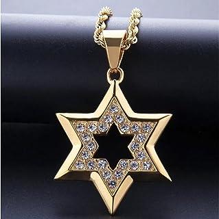 Heren ketting Hip Hop hanger ketting met gouden ster van met strass voor mannen klassieke sieraden Hangers Accessoires Par...