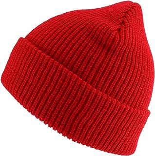Oversized Big Size Plain Ribbed Knit Cuff Long Beanie Hat
