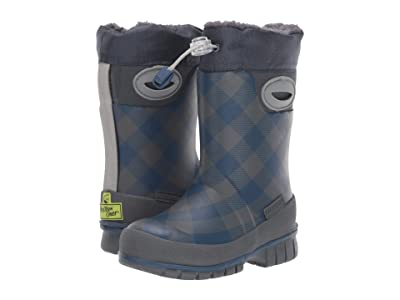 Western Chief Kids Campfire Plaid Winterprene Boot (Toddler/Little Kid/Big Kid) (Charcoal) Boys Shoes