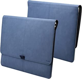 Valkit Microsoft surface Pro 3 sleeve, Microsoft surface Pro 4 sleeve, Top best Surface Pro 3/Pro 4 Sleeve Bag, 12.3 inch PU Leather Tablet Carrying cases and covers with Card Slot, Blue