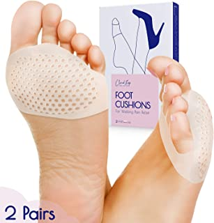 CloudStep Metatarsal Pads for Women and Men, Foot Pads for Ball of Feet - 2 Pairs (4 Pieces) Reusable Gel Cushions for Runners, High Heels, Dancers, Morton's Neuroma, Sesamoiditis, Bunions, Foot Pain