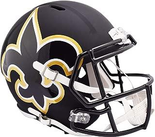 Riddell New Orleans Saints AMP Alternate Revolution Speed Replica Football Helmet - NFL Replica Helmets