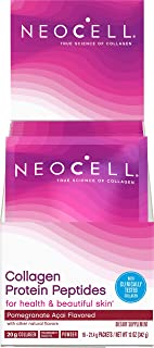 Neocell Collagen Protein Peptides – for Heathy & Beautiful Skin, Pomegranate Acai Flavored – 16 Packets