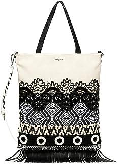 Desigual Bols_Black White Coro - Borsa a tracolla da donna, colore: Bianco