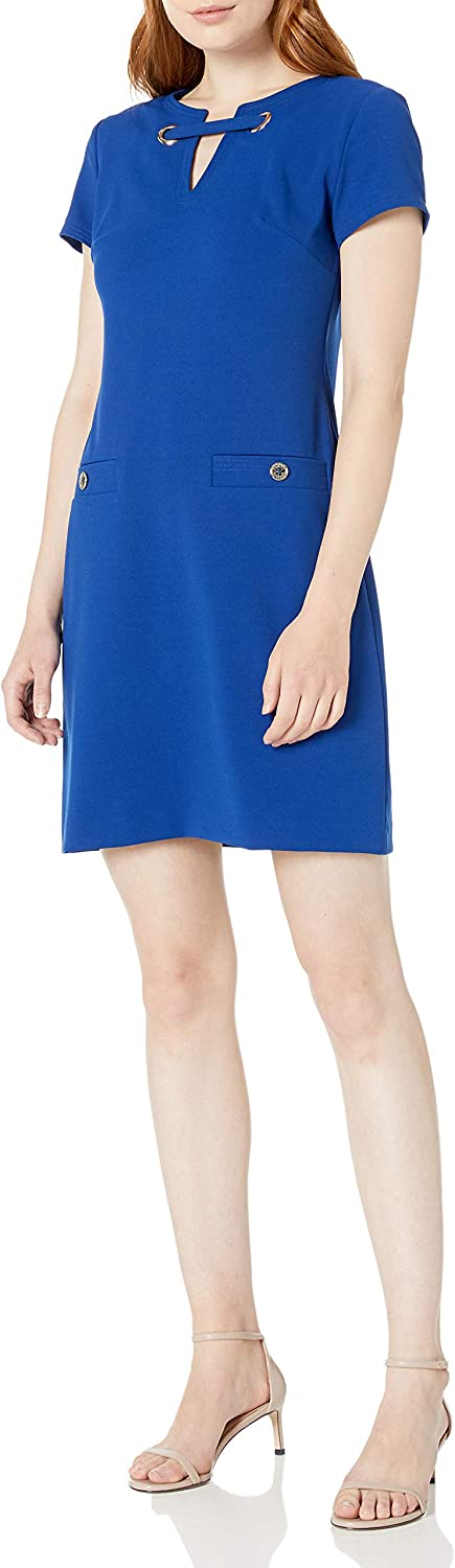 Ranking TOP2 Tommy Hilfiger Women's Classic Scuba Pocket Two Crepe Max 88% OFF Dress