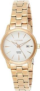 Citizen Quartz Women's White Dial Stainless Steel Analog Watch - EU6073-53A