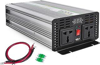 ZGYQGOO 1000/2000 Watts onduleur DC 24V en AC 220V Onduleur sinusoïdal Pur avec convertisseur Puissance (ZPX-1000W 24V-220V)