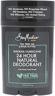 Shea Moisture Tea Tree Oil and Shea Butter Havana Hurricane 24H Natural Deodorant For Men 2.5 oz