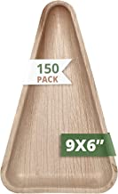 CaterEco Triangle Palm Leaf Plate Set (150 Pack) | Size - 9 x 6 inches | Ecofriendly Disposable Dinnerware | Heavy Duty Biodegradable Party Utensils for Wedding, Camping & More
