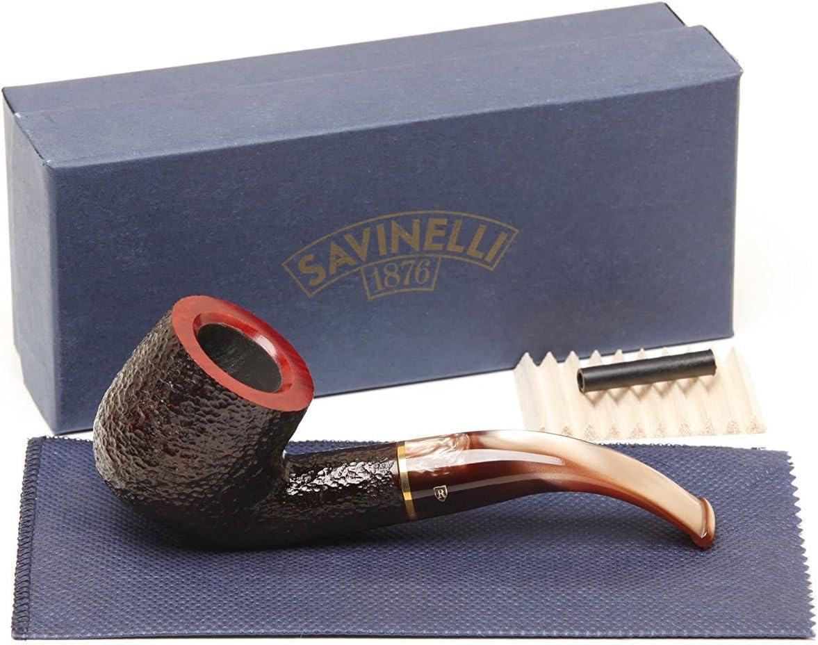 Savinelli Italian Finally popular brand Tobacco Smoking Pipes Roma Max 76% OFF 622 KS Rusticated