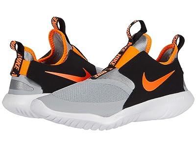 Nike Kids Flex Runner (Big Kid) (Light Smoke Grey/Total Orange/Black/White) Kids Shoes
