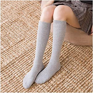 YUNGYE Calcetines de Mujer Calcetines Calcetines Largos hasta la Rodilla Medias largas de algodón Medias sexys Medias (Color : D Light Grey Short)