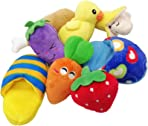 TVMALL Dog Toys Full Set 8 Pcs Plush Toy Molars Chewing Toys Squeak Toys Shoes Suits For Small and Medium Dogs