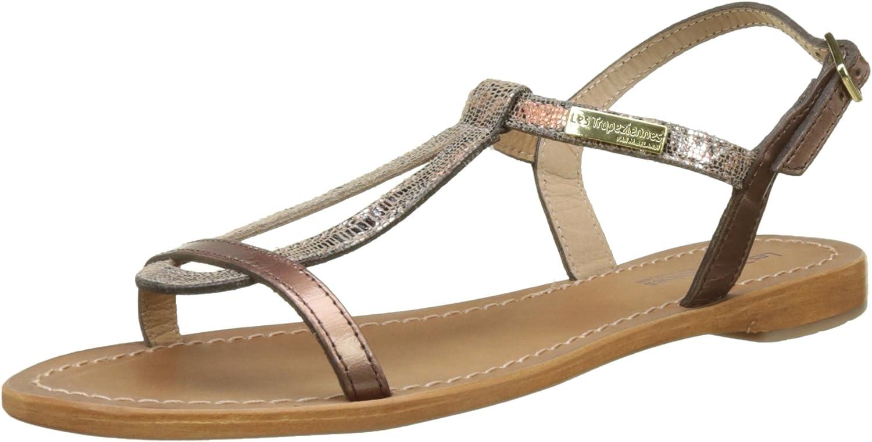 LES TROPEZIENNES par M BELARBI Womens Hamat Flat Leather Strappy Sandals Brown Size 41