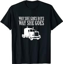 Way She Goes Boys Way She Goes Truck T-shirt | Trucker Tee