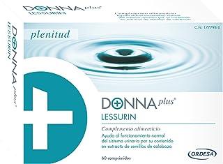 DonnaPlus Lessurin 60 comprimidos, combinación de semillas de calabaza con isoflavonas de soja para ayudar al funcionamiento normal del sistema urinario. 2 comprimidos al día.