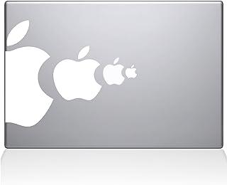 "The Decal Guru Apple Eat Apple MacBook Decal Vinyl Sticker - 13"" MacBook Pro (2015 & Older) - White (1218-MAC-13P-W)"