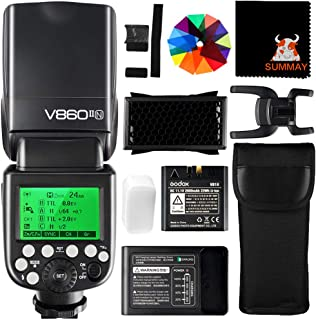 Godox V860II-N High Speed Sync 1 / 8000S GN60 2.4G TTL Li-on Batería Cámara Flash Speedlite para Nikon DSLR D800 D700 D7100 D7000 D5200 (V860II-N)