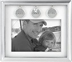 Malden International Designs Charming Metals Dad Metal Charms Picture Frame, 4x6, Silver