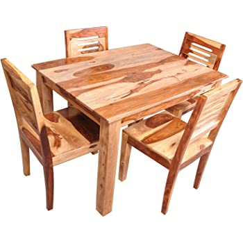 Arant Four Seater Dining Table Matt Finish Natural Amazon In Home Kitchen