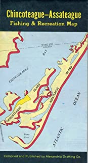 Chincoteague-Assateague, Virginia Fishing and Recreation Map