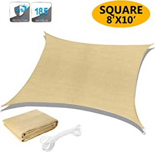 Akarden 8'x10 Sun Shade Sail Canopy Triangle UV Block for Outdoor Patio Garden