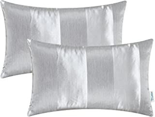 Pack of 2 CaliTime Cushion Covers Bolster Pillow Cases Shells for Couch Sofa bedandbath Decoration Modern Shining & Dull C...