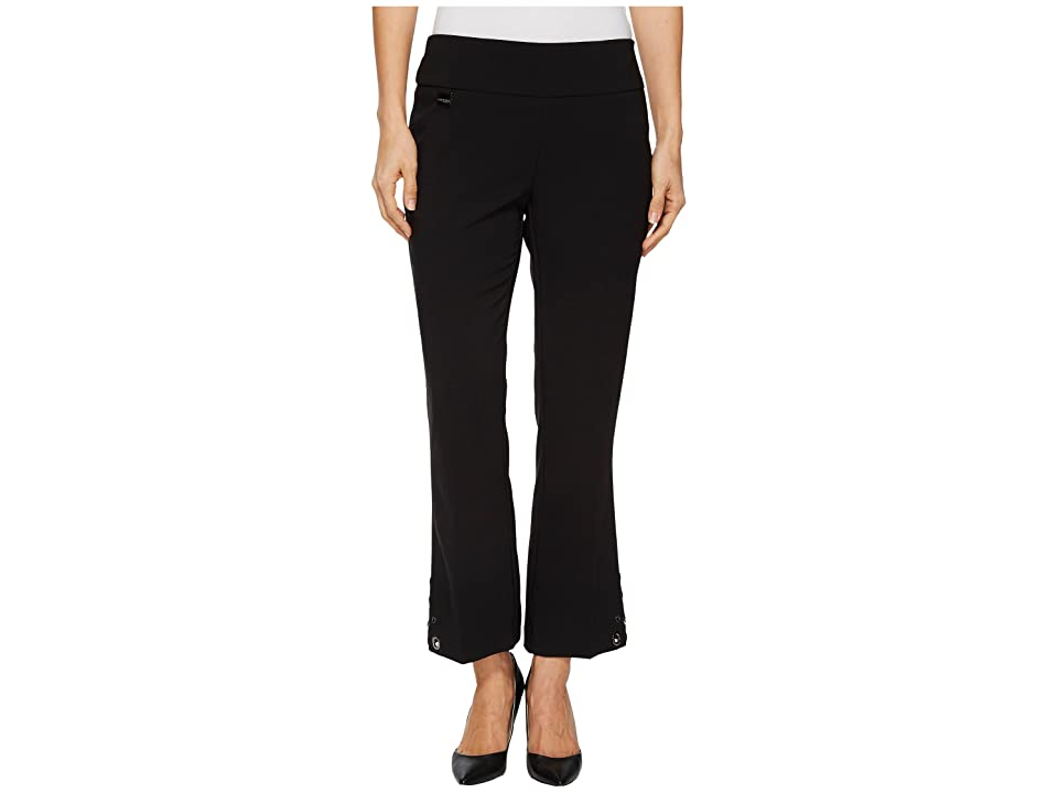 Lisette L Montreal Victoria Stretch Crepe Crop Flare Pants (Black) Women
