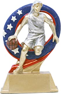 Decade Awards Basketball Superstar Trophy - Hoops MVP Award - 6.5 Inch Tall - Engraved Plate on Request