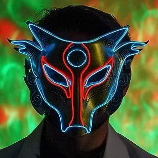 LED Light Up Mask Full Face for Halloween Party