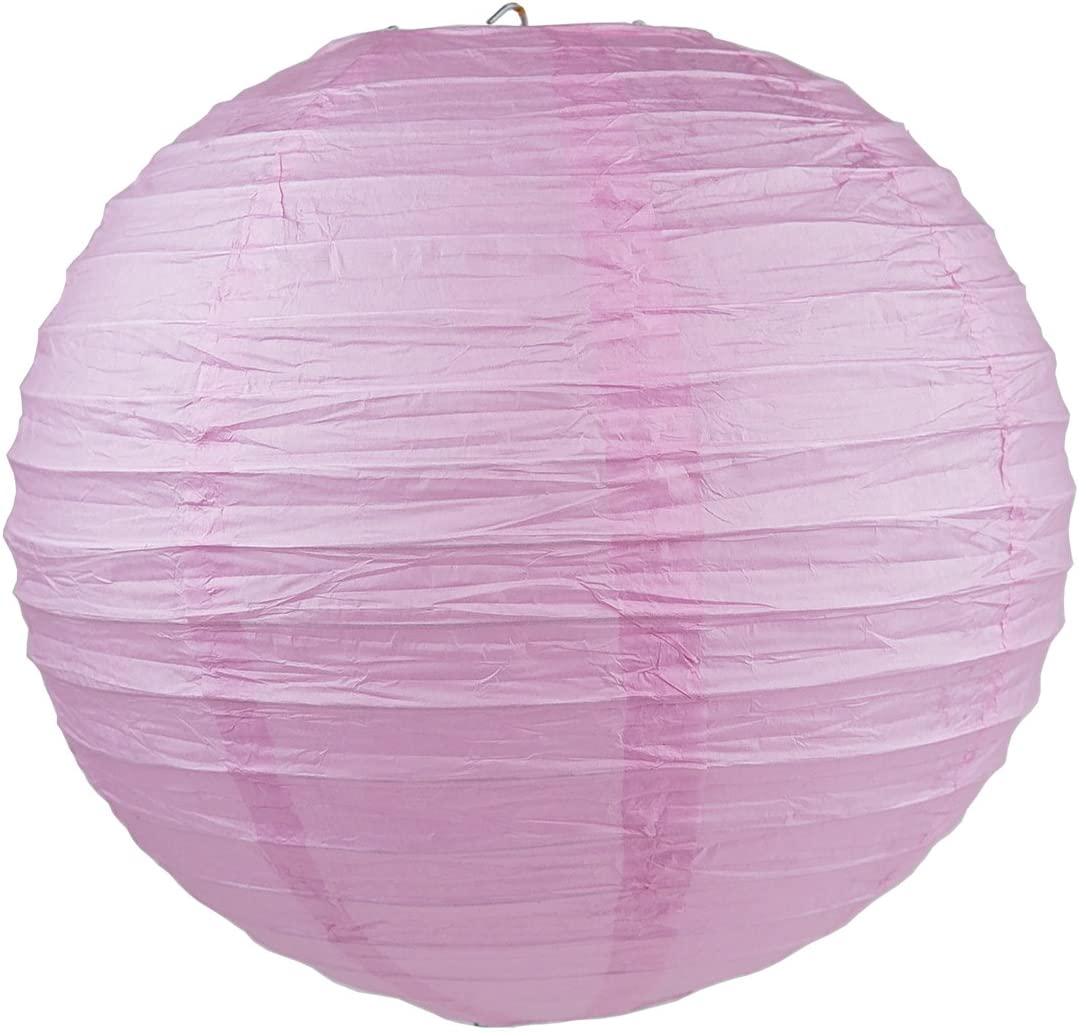 12 10 WYZworks Round Paper Lanterns 10 Pack 14 - with 8 Pink, 12 16 Option