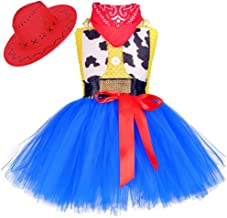 Tutu Dreams Cowgirl Costume for Girls 1-12Y with Bandana Birthday Halloween Holiday Party