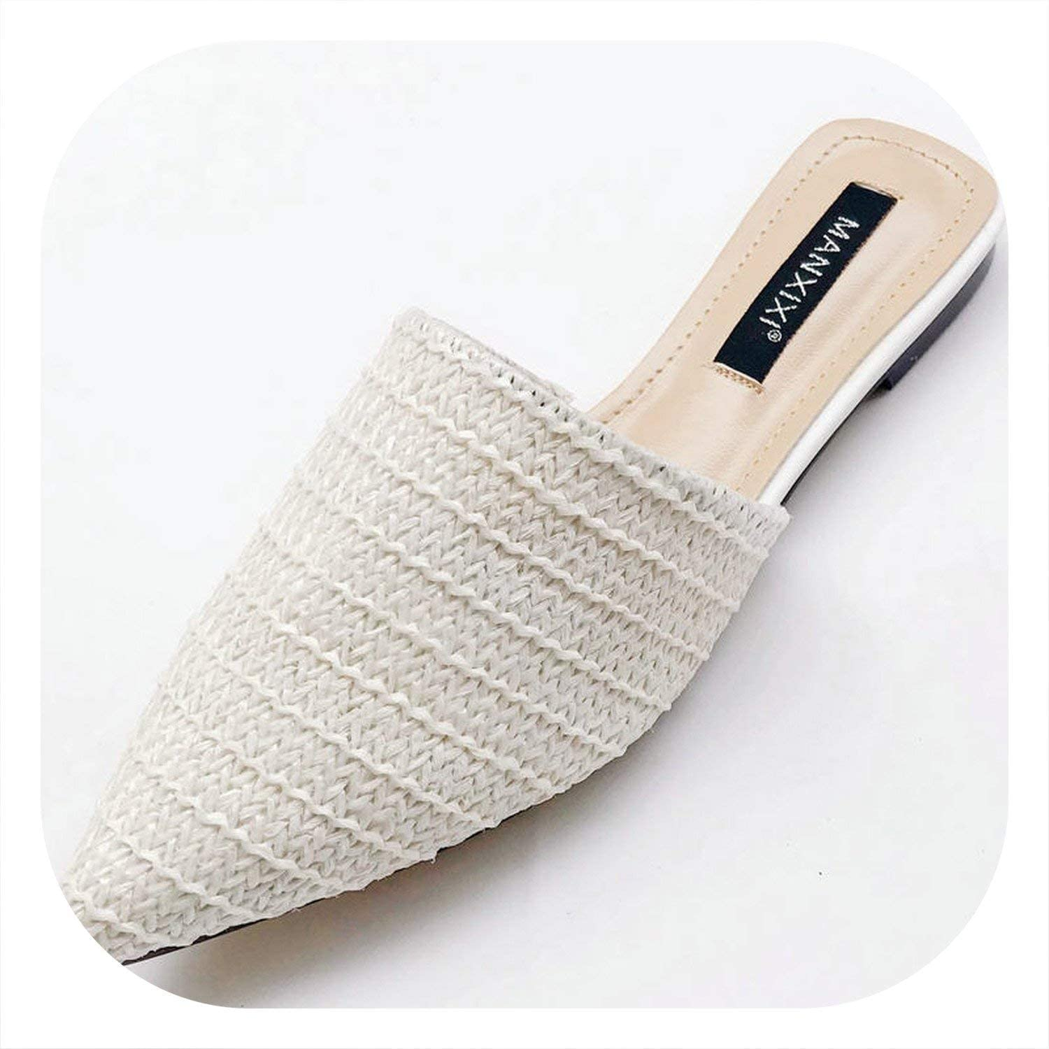 Glad You Came New 2019 Spring Summer Women Slippers Weave Flat shoes Woman Mules shoes Pointed Toe Half Slippers Outside Slides SX1962