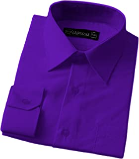 Ozmoint Boys Formal Prom Long Sleeve Shirts Set with Tie,Cufflinks and Hankerchief for Weddings Proms Ceremonies Parties 1-16 Years