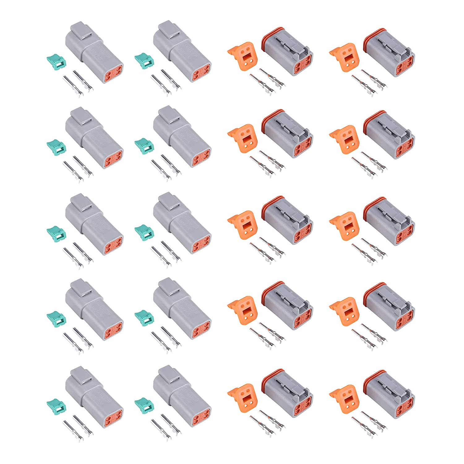 MUYI 10 Kit 4 Pin Way DT Receptacle Series Connector W Gray New Orleans Mall shopping IP67