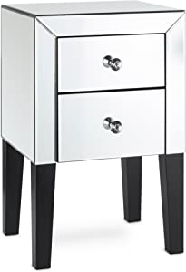 Mirrored Furniture Set (Mirrored, Bedside Table)