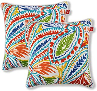 "Pcinfuns Set of 2 Patio Indoor/Outdoor All Weather Decorative Throw Pillow Cover Cushion Case for Replacement 18"" x 18""-Phoenix"
