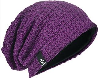 Męska czapka oversize beanie luźna czaszka dzianina duża luźna czapka czapka narciarska B08