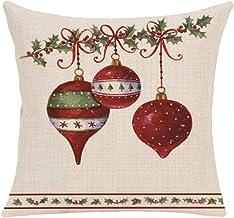YUANYONG (No Insert Pillowcover Christmas Socks Bells Christmas Tree Sleigh Jingle Bells Merry Christmas Pillow Cushion 45...
