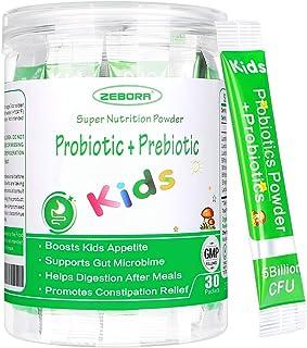 Kids Probiotic & Prebiotics Powder Age 3+ Support Children's Digestive & Immune System with Natural Source, PromotesConst...