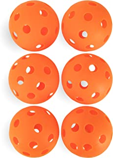 Crown Sporting Goods 6-Pack of 12-inch Plastic Softballs – Perforated Practice Balls for Sports Training & Wiffle Ball