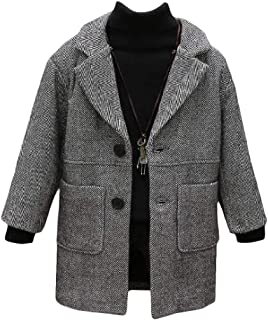 Boys' Peacoats Overcoat Wool-Blend Winter Thick Jackets