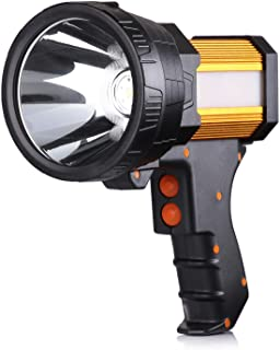 BUYSIGHT Rechargeable spotlight,Spot lights hand held large flashlight 6000 lumens..